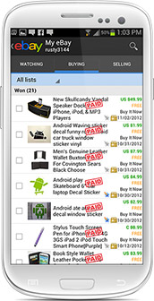 Android My eBay